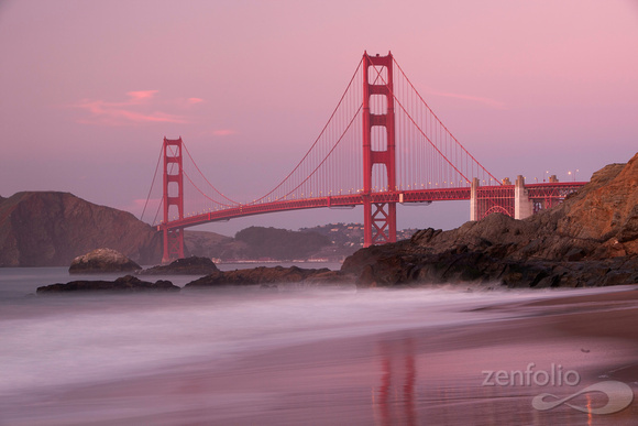 Twilight at the Golden Gate Bridge